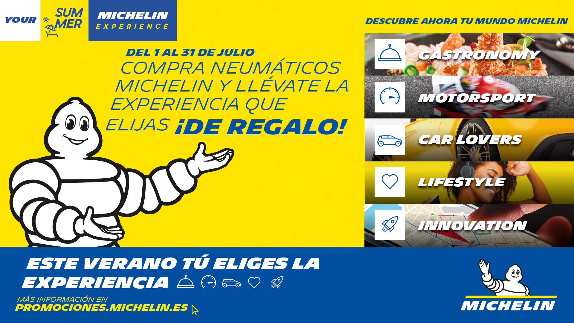 Regalo neumáticos de Michelin