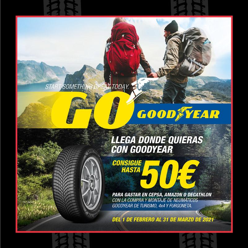 Descuentos neumáticos Goodyear