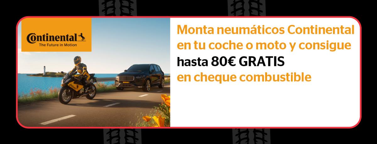 Cheque de combustible con neumáticos Continental