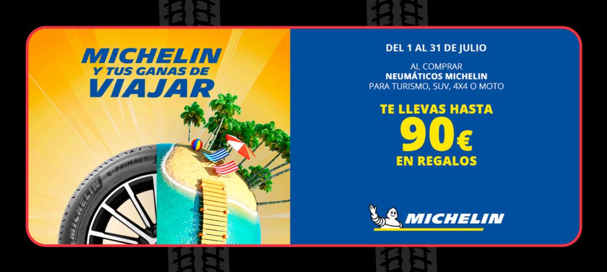 Cheques regalo con neumáticos Michelin