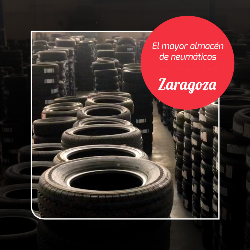El mayor almacén de neumáticos de Zaragoza